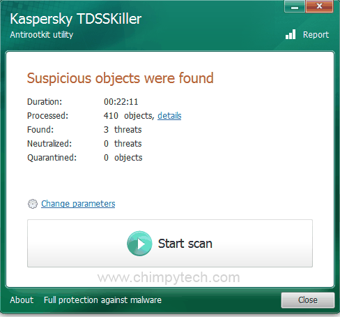 TDSSKiller Infected Result