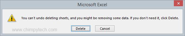 Delete Excel Spreadsheet