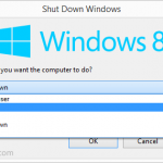 Windows 8 Shutdown Options