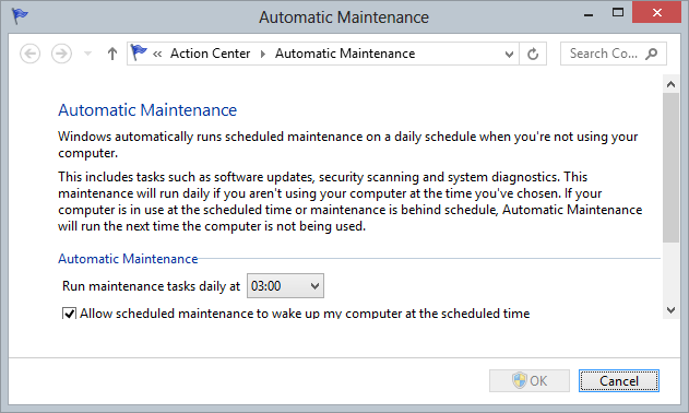 Windows 8 Automatic Maintenance