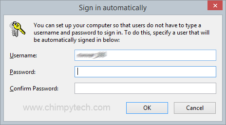 Automatically Log In To Windows 8