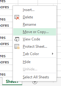 Copying An Excel Worksheet
