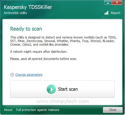 TDSSKiller Start Screen