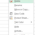 Delete Excel Worksheet