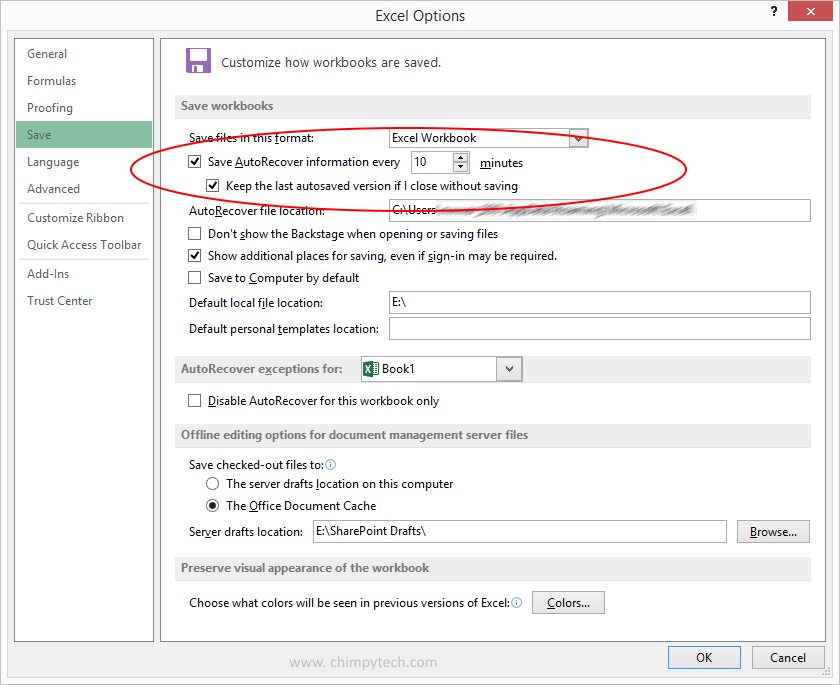 How to Set Up Auto Save In Microsoft Office 2013