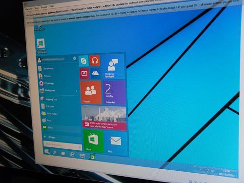 Windows 10 Technical Preview Running In A VM on Windows 8