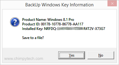 Backup Windows 8 Product Key