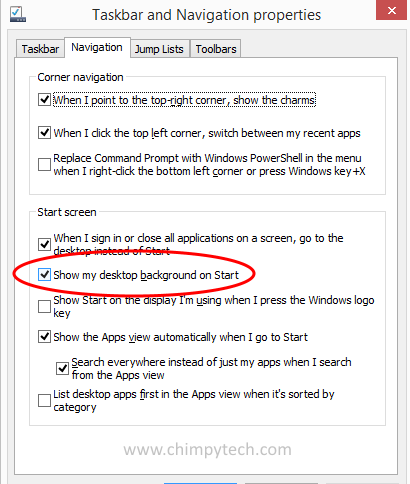 Windows 8.1 Show Desktop