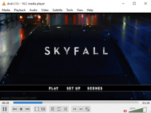 Playing DVDs in Windows 10 using VLC